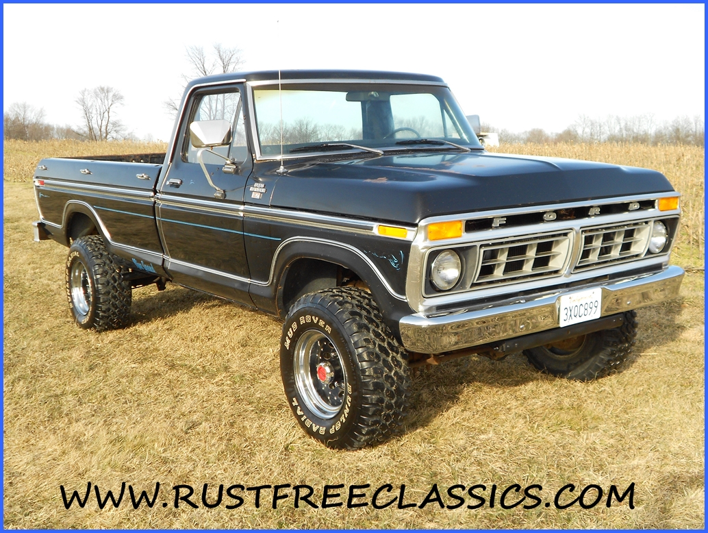 1977 F250 Highboy Black Ranger XLT 4 speed 351 survivor